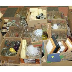 PALLET OF GLASSWARE, COLLECTIBLE BEER STEINS,