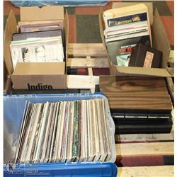 38) 3 BOXES OF RECORDS SOLD WITH 3 CASES OF