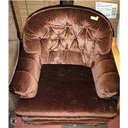 13)BROWN FABRIC CHAIR