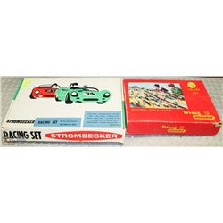 15) VINTAGE SLOT CAR AND TRAIN SET