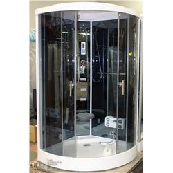 ANS STEAM SHOWER WITH BACK SPRAY JETS, LIGHTS,