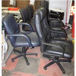 LOT OF 6 OFFICE CHAIRS