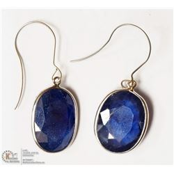 25- 14KT WHITE GOLD BLUE SAPPHIRE EARRINGS