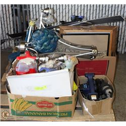 PALLET OF MISC INCL . COFFEE URN, HOT AIR POPPER,