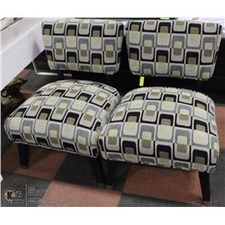 2 LIVING ROOM DESIGNER  BROWN ACCENT CHAIRS