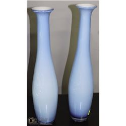 "PAIR OF DECORATIVE VASES 21"" TALL"