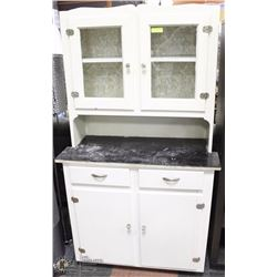 14) VINTAGE WHITE PANTRY CABINET