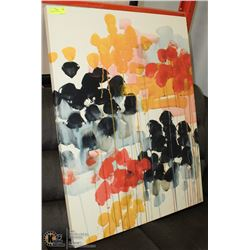 CANVAS ART SIGNED BY ARTIST 30 X 40 INCH