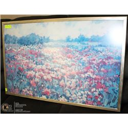 FRAMED SIGNED FIELD OF FLOWERS PRINT