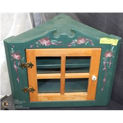 CORNER PAINTED WOOD WALL CABINET
