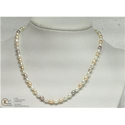 30- FRESHWATER PEARL W/ CZ CLASP NECKLACE