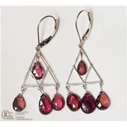 41- 14KT WHITE GOLD TOURMALINE EARRINGS