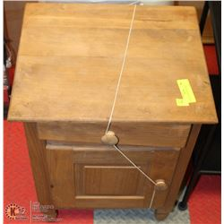 WOOD TELEPHONE CABINET