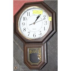 REGULATOR WALL CLOCK WITH WESTMINSTER CHIMES