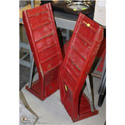 "2 LARGE METAL  CAR RAMPS 35"" LONG"