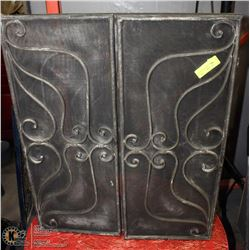 "WROUGHT IRON FIREPLACE SCREEN 48""X30"""