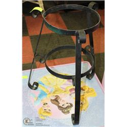 "WROUGHT IRON PLANT STAND 16""X24"""