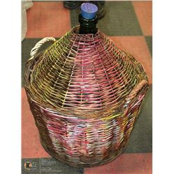 DEMI JOHN WINE JUG WITH WICKER