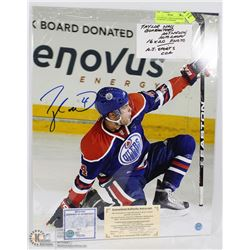 TAYLOR HALL 16X20 GUARANTEED AUTHENTIC AUTOGRAPH
