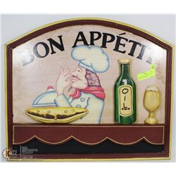 "3D WOOD ""BON APPETIT"" SIGN - GREAT FOR THE BAR"