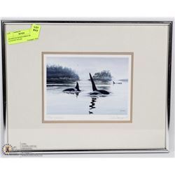 FRAMED & SIGNED PRINT BY DON LI-LEGER TITLED