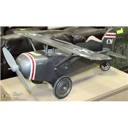 TOY ARMY PLANE SIT-ON SCOOTER