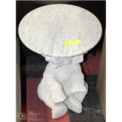 STONE TOP ELEPHANT END TABLE