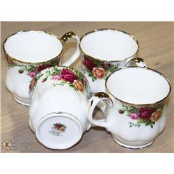 GROUP OF 4 OLD COUNTRY ROSES 1962 ENGLISH MUGS