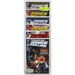 SET OF 6 FOREVER EVIL: ROGUES REBELLION COMICS