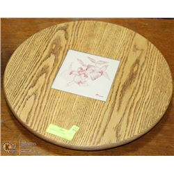 OAK WOOD LAZY SUSAN