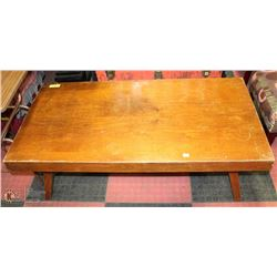 "SOLID WOOD COFFEE TABLE 24""X48""X16""H"