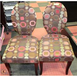 2 SHOWHOME MATCHING ACCENT CHAIRS