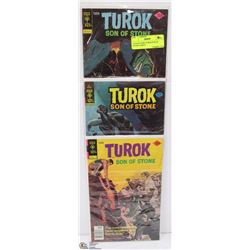 3 COLLECTORS TUROK SON OF STONE COMICS