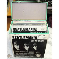 CASE W/ VINTAGE RECORDS INCL BEATLES
