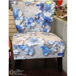 FLORAL SHOWHOME ACCENT CHAIR