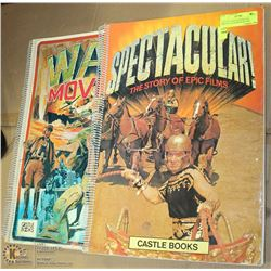 LOT OF 2 CASTLE BOOKS INCL SPECTACULAR &WAR MOVIES