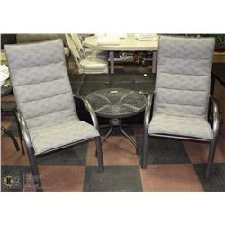 3PC HOMECREST 2 CHAIRS AND ROUND END TABLE