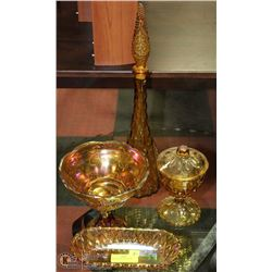2)LOT OF DEPRESSION GLASS
