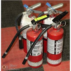 4 FIRE EXTINGUISHERS, 3 ARE CHARGED