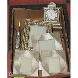 9PC SILVER LEAF VANITY AND SHOWHOME DECOR INCL