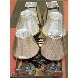 3 SETS OF 2 MATCHING DESIGNER MINI LAMPS