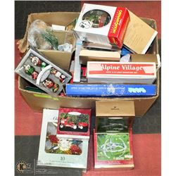 20) BOX OF CHRISTMAS COLLECTIBLES