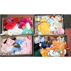 FOUR BOXES OF BEANIE BABIES