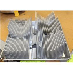 TRAY OF CLEAN ALUMINUM HEAT SINKS - GREAT FOR