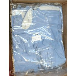 4 BUNDLES OF 12 BLUE RUBBER GLOVES