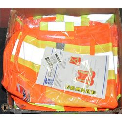 3 SAFETY VESTS - ONE SIZE FITS ALL, 1 IN BAG