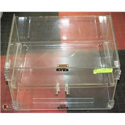 "DISPLAY CABINET WITH TRAY 19""X14""X12""H"