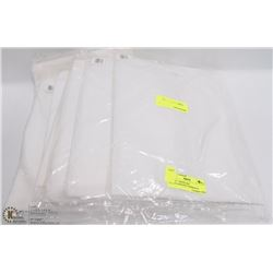 LOT OF 7 WHITE XXL POLYPROPELENE COVERALLS
