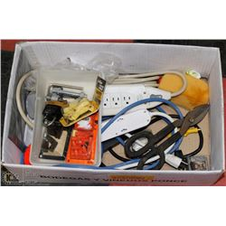 BOX OF HARDWARE INCL POWERBARS ETC