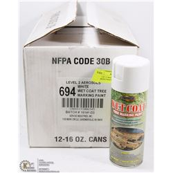 CASE OF 12 WHITE  WET COAT TREE MARKING PAINT